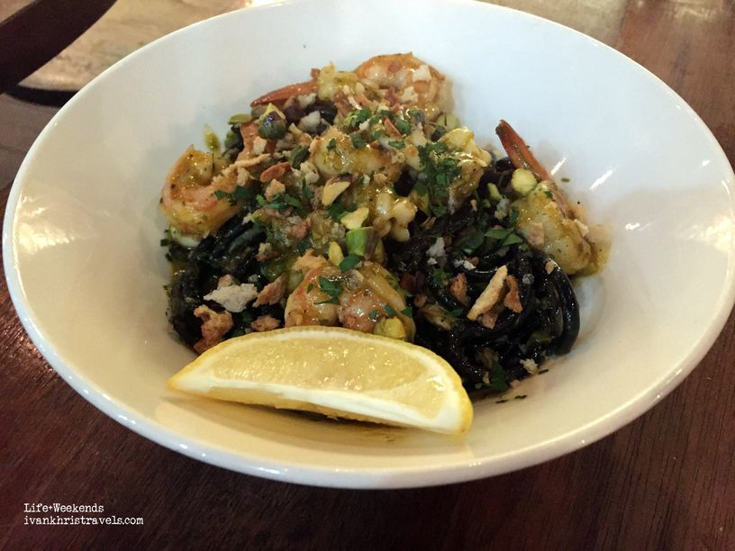 Squid ink pasta at Wildflour Cafe + Bakery