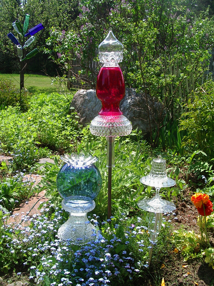 Kristina Wentzell Fine Art: Upcycled Garden Art: Garden