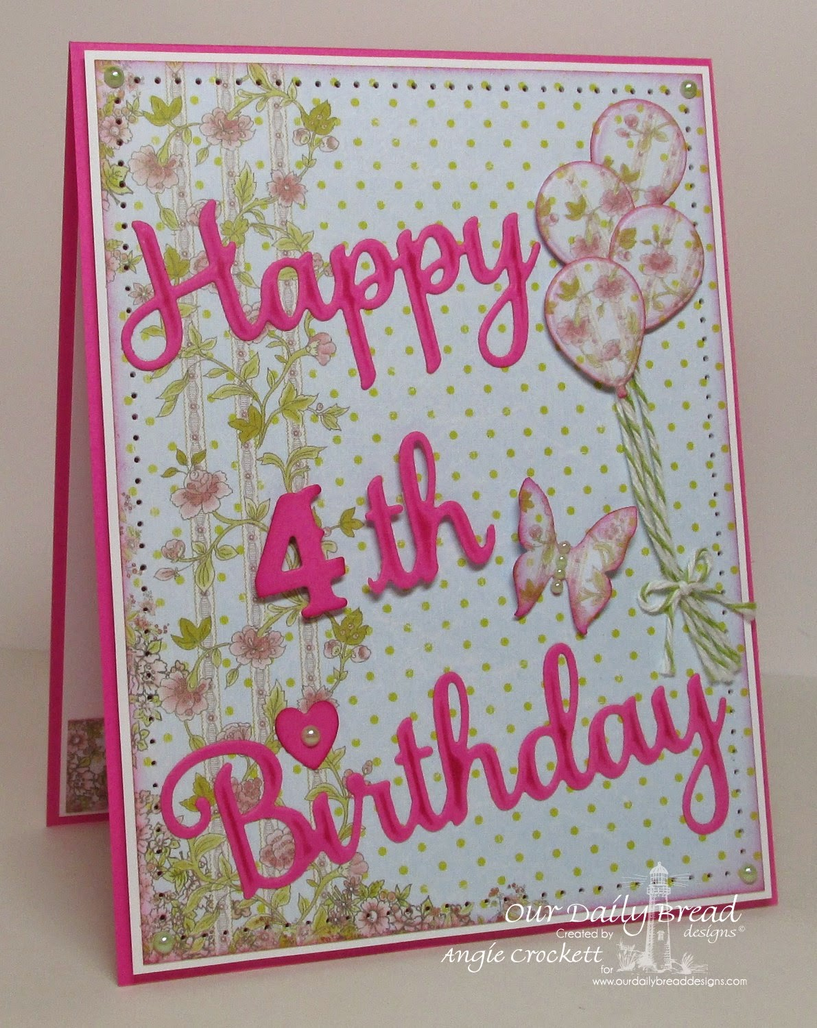 ODBD Custom Happy Birthday Dies, ODBD Custom Mini Tags Dies, Card Designer Angie Crockett