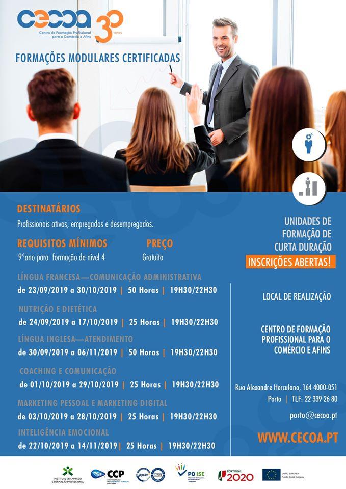Porto – Formação certificada para empregados e desempregados