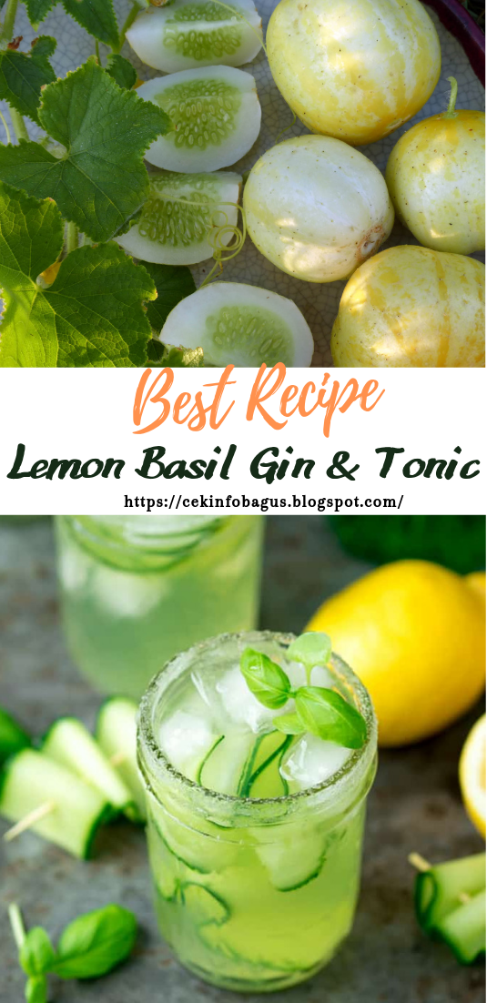 Lemon Basil Gin & Tonic #healthydrink #easyrecipe #cocktail #smoothie
