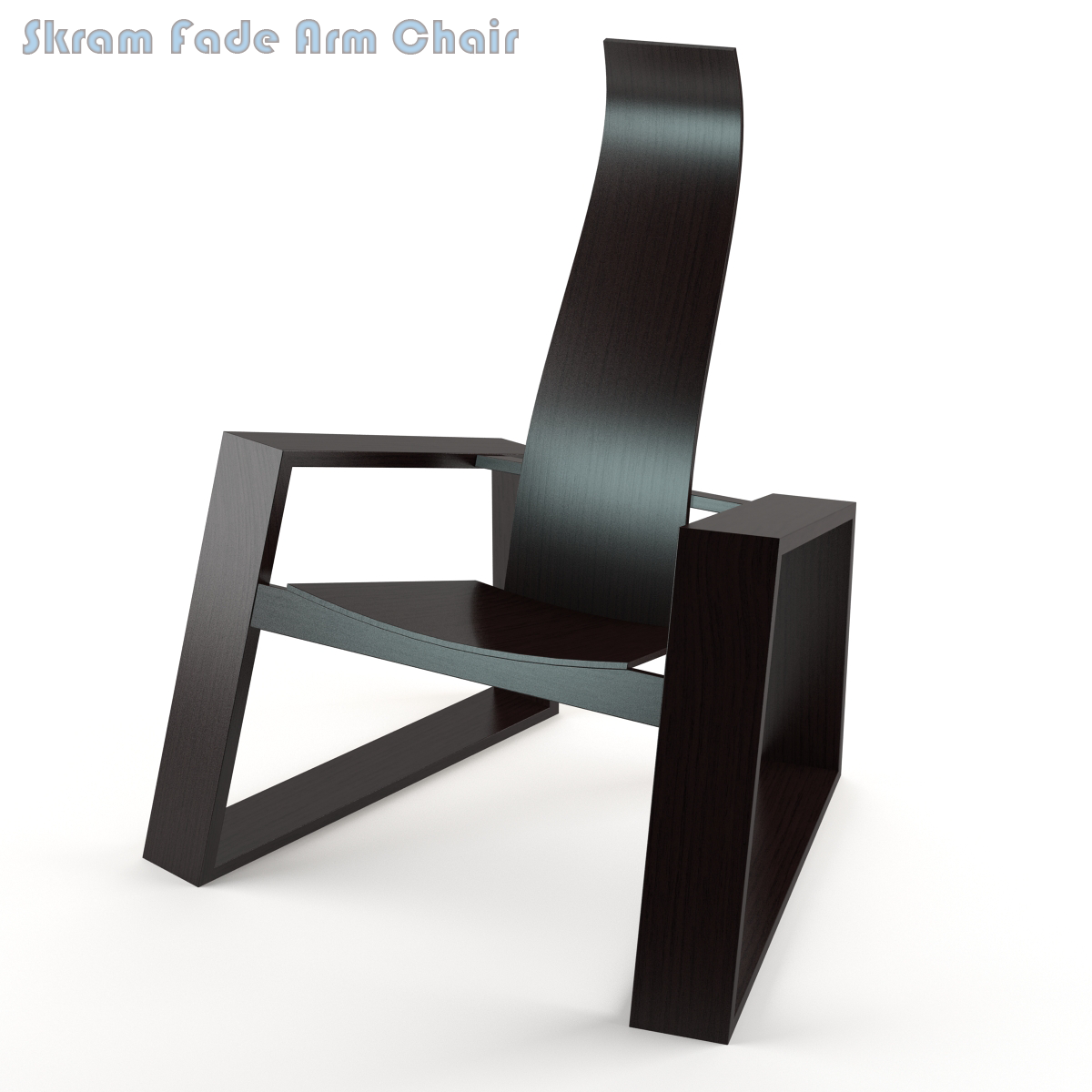 cadartet skram fade arm chair 3d model vray