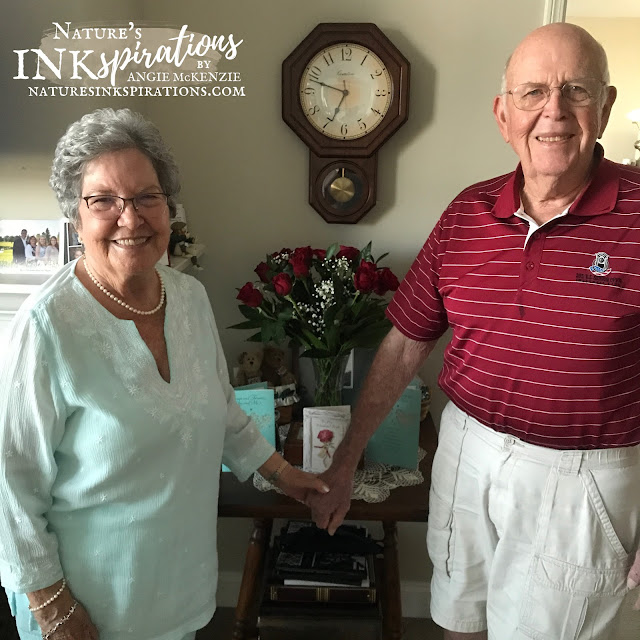 My parents on their 60th Anniversary - holding hands   Nature's INKspirations by Angie McKenzie