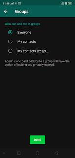 WhatsApp Groups में खुद को एड होने से ऐसे बचाएं