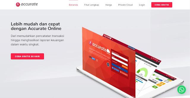 Screenshot Website Accurate.id