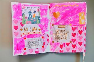 Walentynkowy art journal