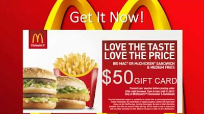 Get Free McDonald`s Giftcard