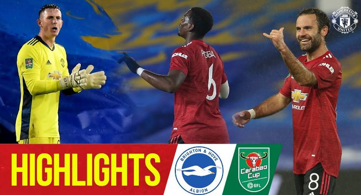 Piala Liga: Brighton vs Manchester United 0-3 Highlights