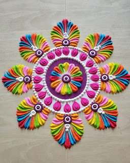 rangoli designs flower