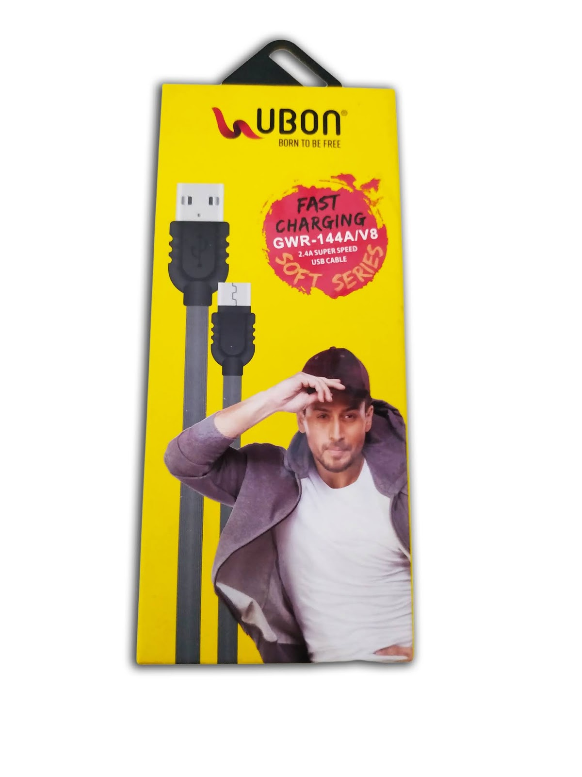 Ubon Soft Series GWR-144A V8 Fast Charging Or Data Cable (Black, White)