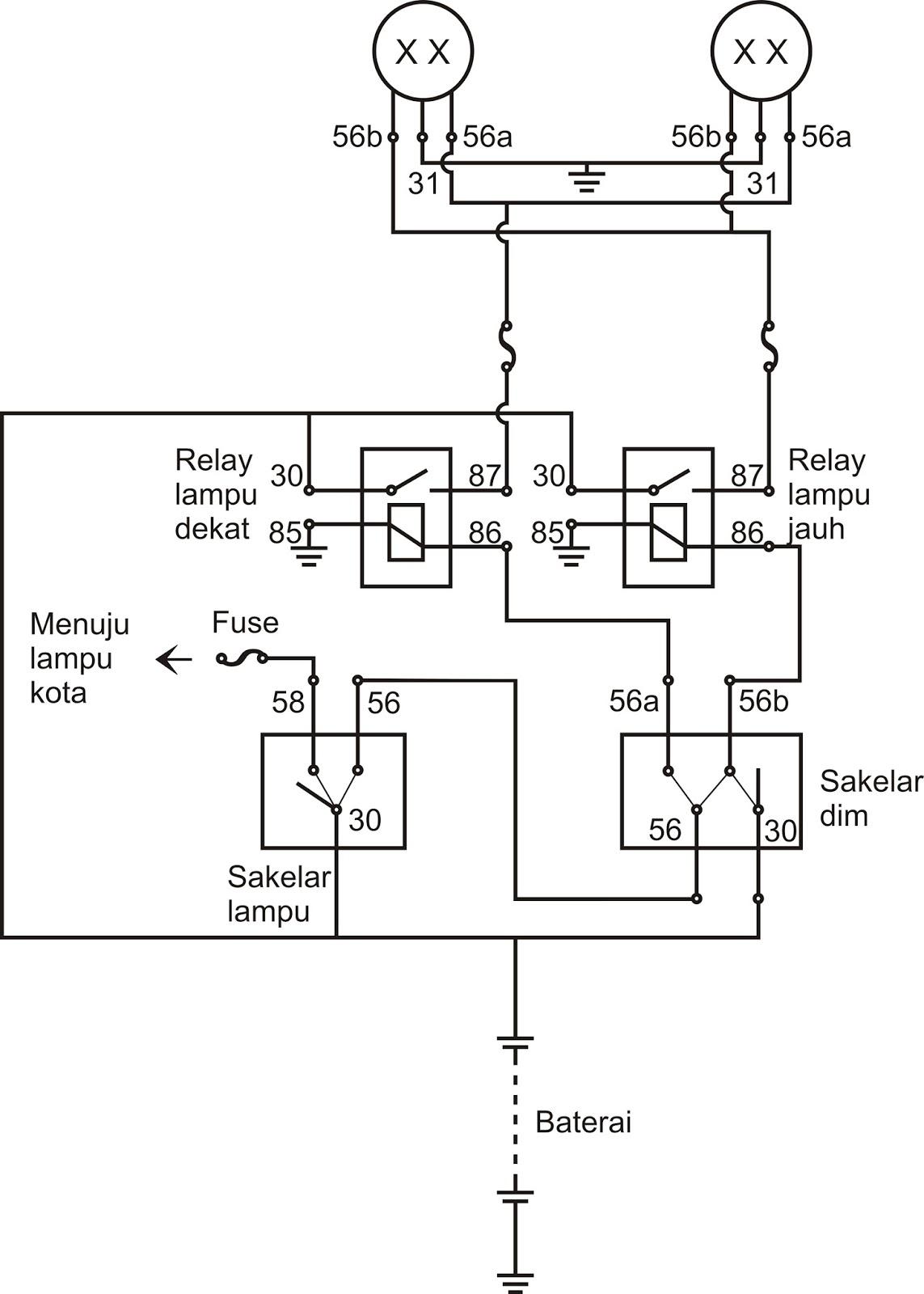 medium resolution of download koleksi 93 gambar wering diagram sistem penerangan sepeda motor honda terlengkap