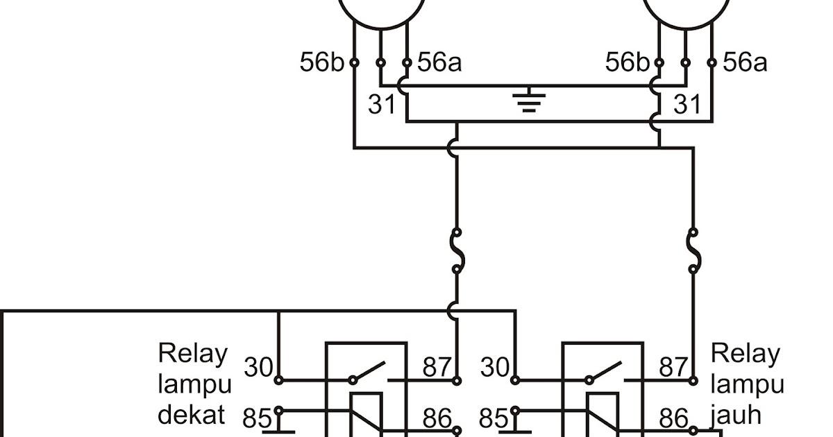 Wiring Diagram Lampu Kepala Sepeda Motor Honda
