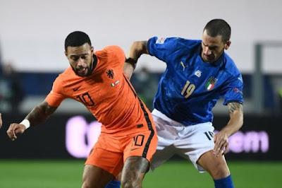 ملخص واهداف مباراة ايطاليا وهولندا (1-1) دوري الامم الاوروبية