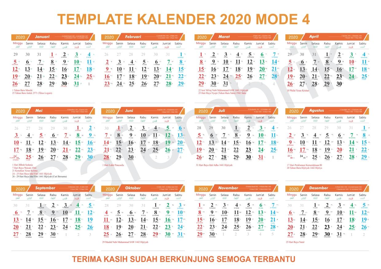 61+ Kalender 2020 Lengkap Jawa