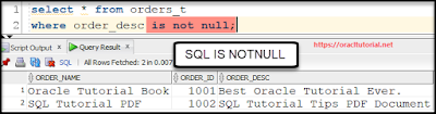 SQL IS NOT NULL operator usage in where clause to deal with sql null values by SQL Tutorial