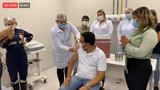 Em Cacimba de Dentro vacinação tem inicio no Hospital Municipal com profissionais de saúde que receberam primeira dose