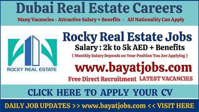 Rocky Real Estate Careers Latest Dubai Vacancies