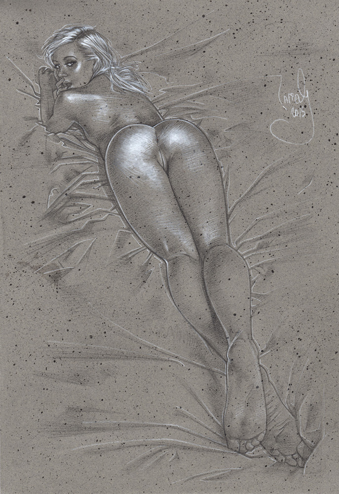 Enticing, Nude Drawing © JEFF LAFFERTY 2015