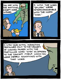 Comic on breaking a genie