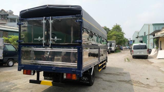 Đóng thùng bạt xe tải Hyundai EX6 tải trọng 5 tấn