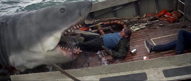 ตำนานฉลามกินคน Jaws ขณะกำลังกินควินต์