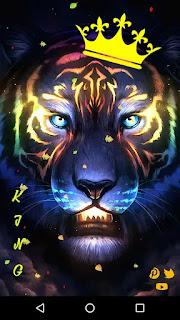 yellow lion theme screenshot