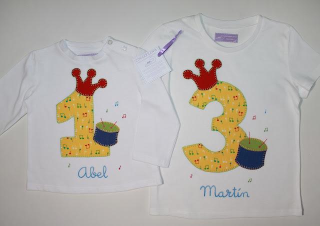 camisetas de cumpleaños 1 y 3 años hermanos