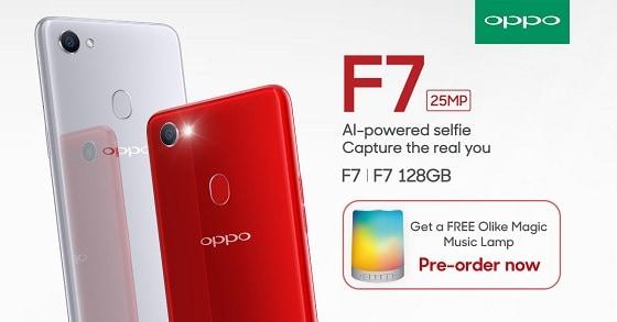 OPPO F7 Pre-Order Philippines, get free Olike LED Bluetooth Speaker