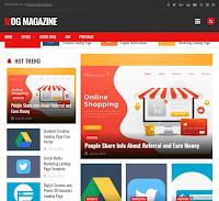 Mog Magazine Blogger Template Premium