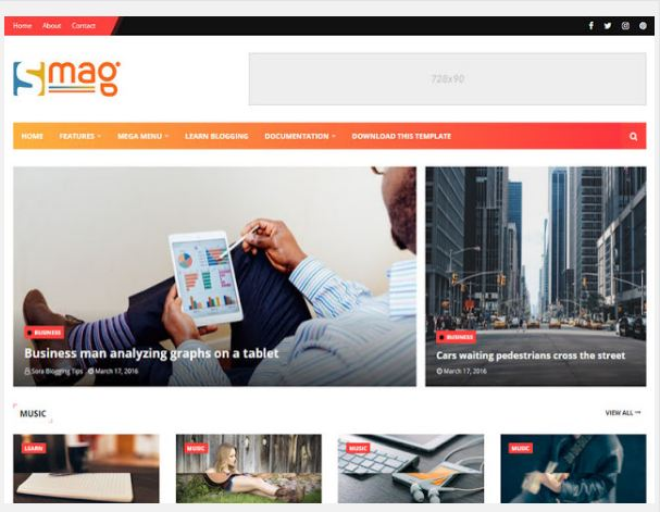 Free Premium Mobile Friendly Blogger Template, SEO Friendly