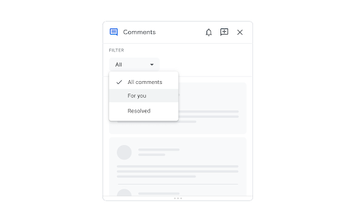 Improvements for locating new comments and important conversations in Google Docs 2