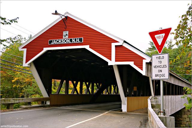 Honeymoon Covered Bridge en Jackson, New Hampshire