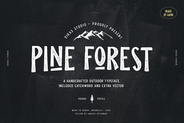 Pine Forest Outdoor Typeface Font