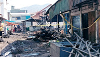 Kebakaran di Pasar Lama Kobi, Kerugian Ditaksir Ratusan Juta Rupiah