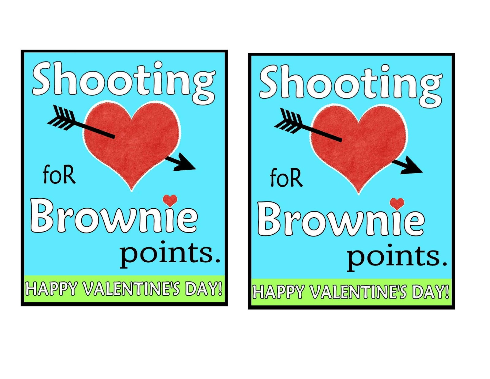 Invaluable image with shooting for brownie points free printable