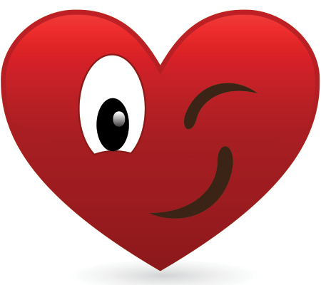 Winking heart icon