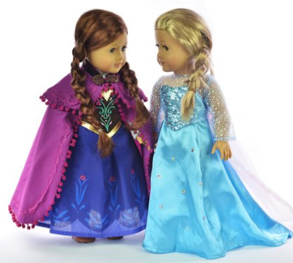 Disney Frozen Elsa and Anna American Girl Dresses