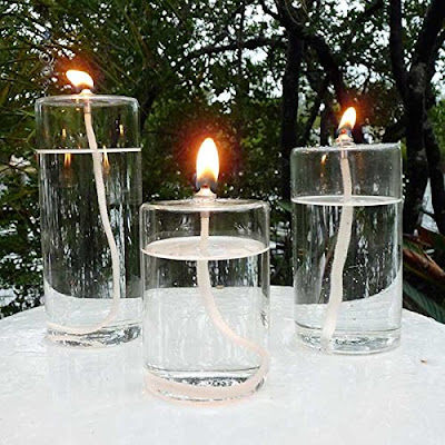 Refillable Glass Candles