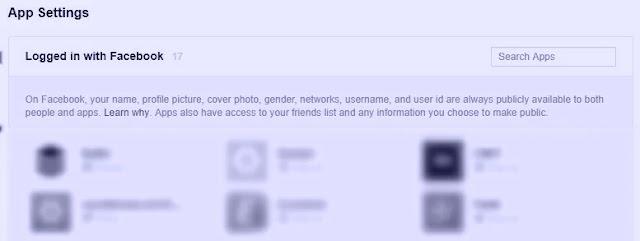 رفض وصول التطبيقات إلى حسابك فايس بوك