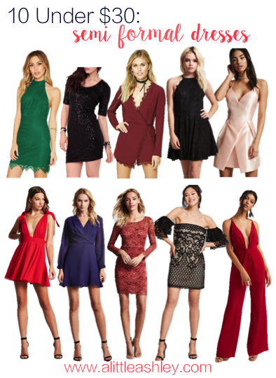 Semi Formal Dresses Under $30