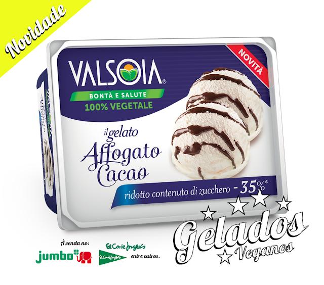 NOVOS GELADOS VEGAN VALSOIA EM PORTUGAL - BRANCO E CHOCOLATE LIGHT 400GR