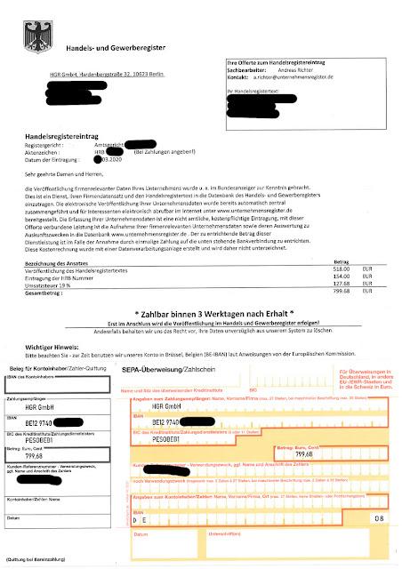 scan: Offerte HGR GmbH / März 2020