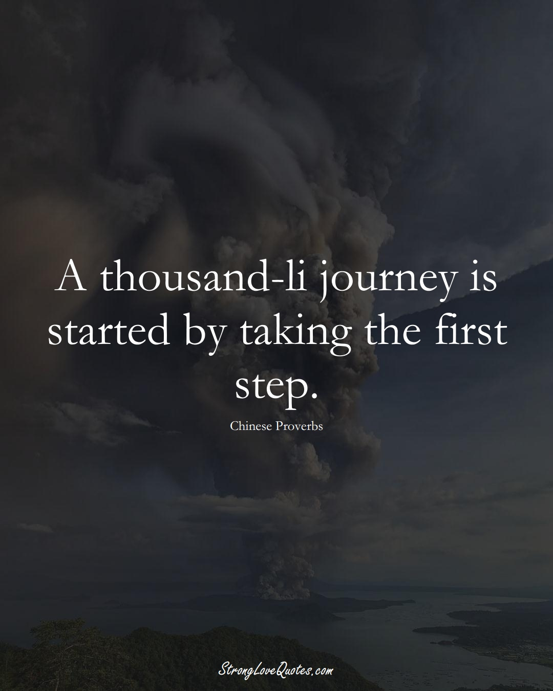 A thousand-li journey is started by taking the first step. (Chinese Sayings);  #AsianSayings