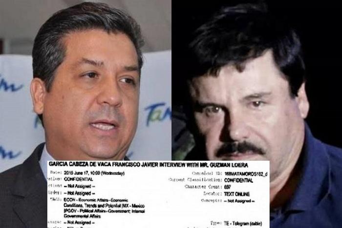 Cabeza de Vaca Gobernador de Tamaulipas sostuvo junto a Genaro García Luna reuniones con El Chapo Guzmán en los Cabos