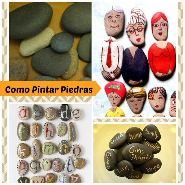 piedras, pintar, decorar piedras, manualidades, diys