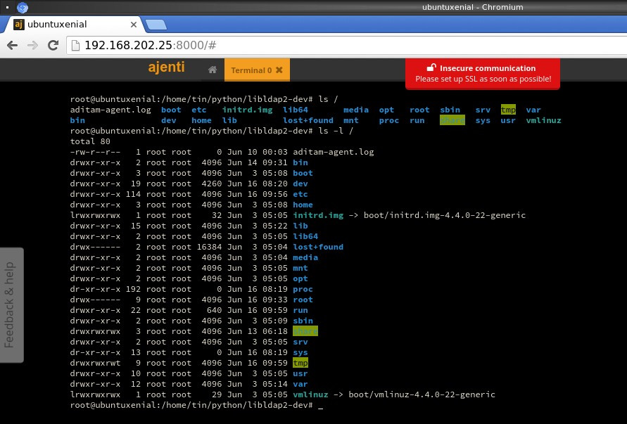 Tech Note: manage your linux server with beautiful web interface