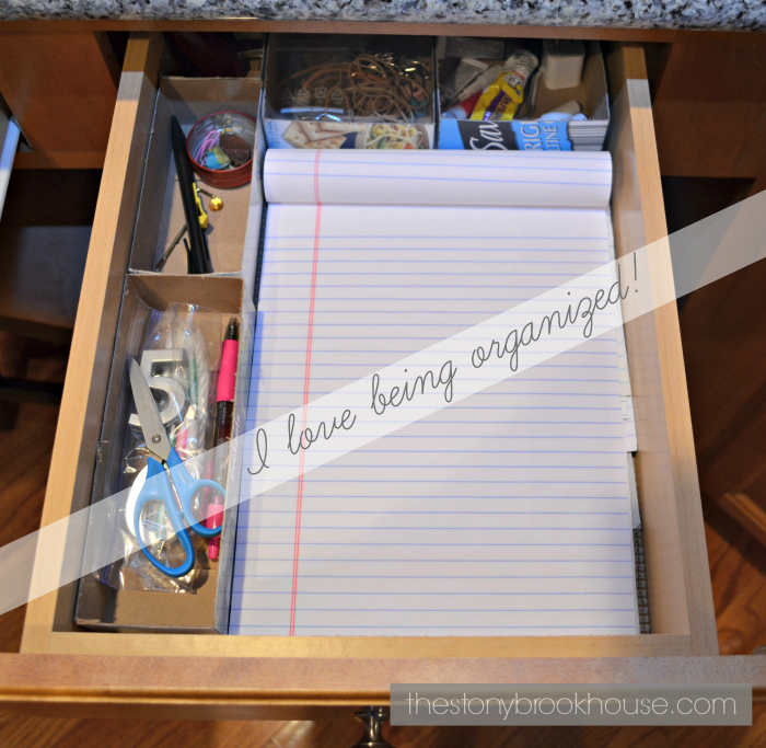 Drawer Organizer from Cereal Boxes