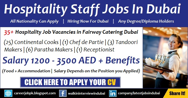 Fairway Catering Services Walk in Interview