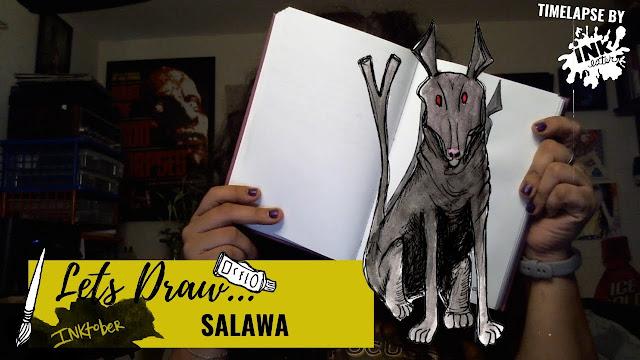 Drawing the Salawa  - Exploring Cryptids Worldwide | Inktober