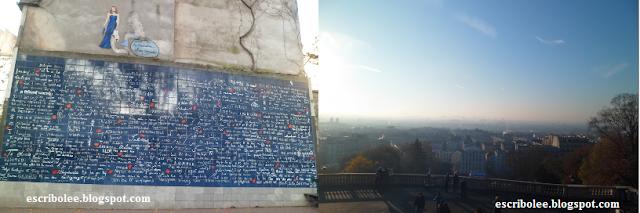 Viaje a París: muro de los Te quiero y Vistas de París desde el Sagrado Corazón